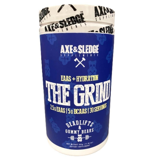 Axe & Sledge The Grind EAAs + Hydration 30 Servings Amino Acids AXE & SLEDGE Deadlifts & Gummy Bears  (3825346150423)