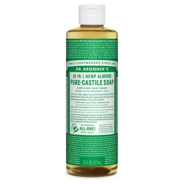 Dr. Bronner's Pure Castille Liquid Hemp Almond 16 Oz Specialty Health Products Dr. Bronner's  (3487841845271)