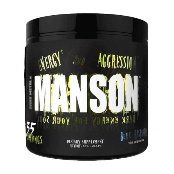 Insane Labz Manson 35 Servings Pre-Workouts Insane Labz Blue Raspberry  (4531624443927)