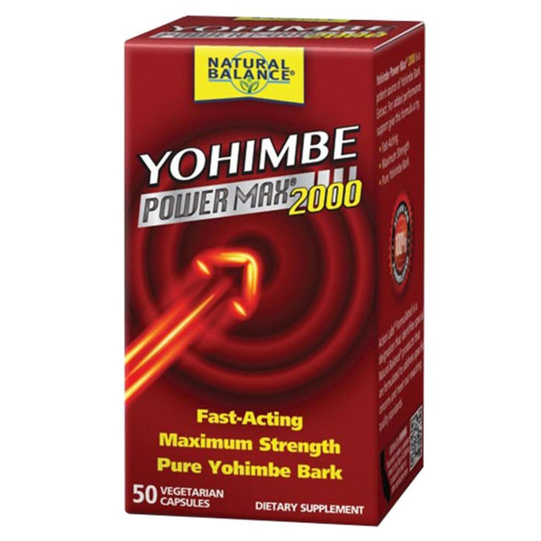 Natural Balance Yohimbe Power Max 2000 50 Capsules Fat Burner Natural Balance