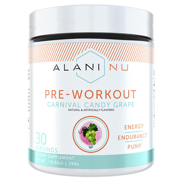 Alani Nu Pre Workout 30srv Sports Performance Recovery Alani Nu COTTON CANDY GRAPE  (3493345853463)