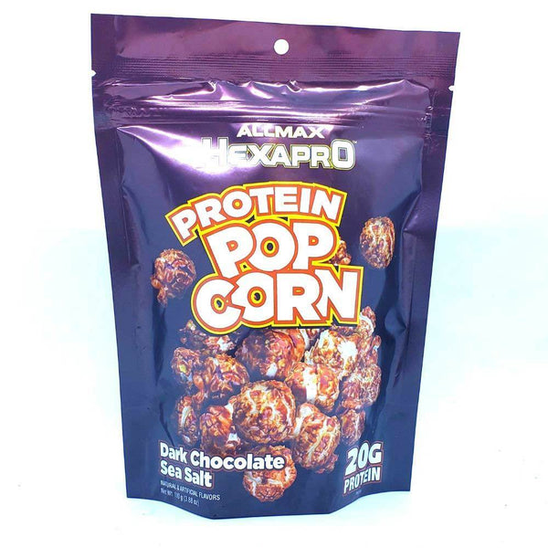 ALLMAX Hexapro Protein Popcorn 2 Servings Foods Juices Allmax Nutrition Dark Chocolate Sea Salt  (4402780471319)