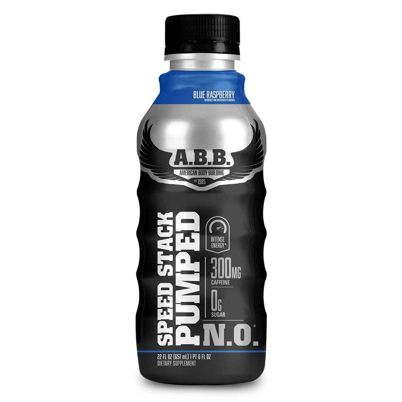 American BodyBuilding Speed Stack Pumped N.O. 12/CS Drinks American BodyBuilding Blue Raspberry  (1471064702999)