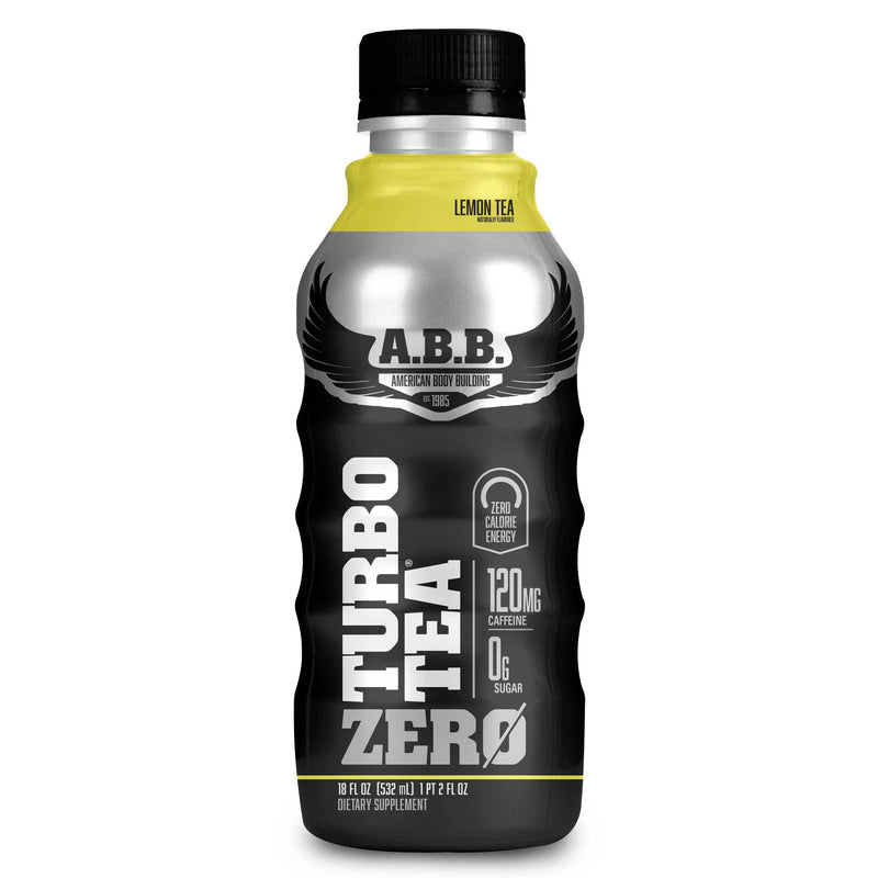 American BodyBuilding Turbo Tea Zero 12/Case Drinks American BodyBuilding Lemon Tea  (1470637768727)