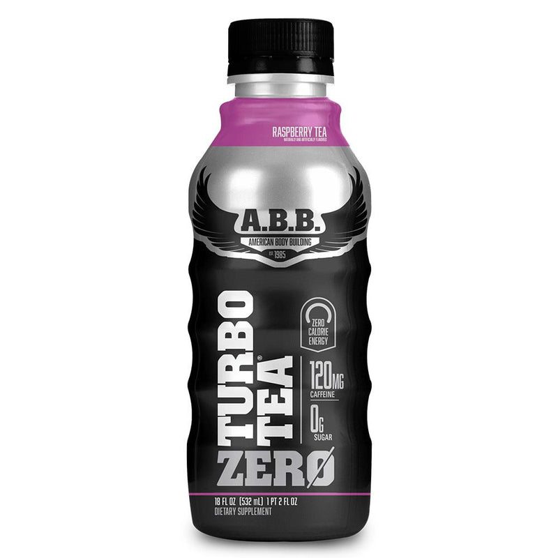 American BodyBuilding Turbo Tea Zero 12/Case Drinks American BodyBuilding Raspberry Tea  (1470637768727)