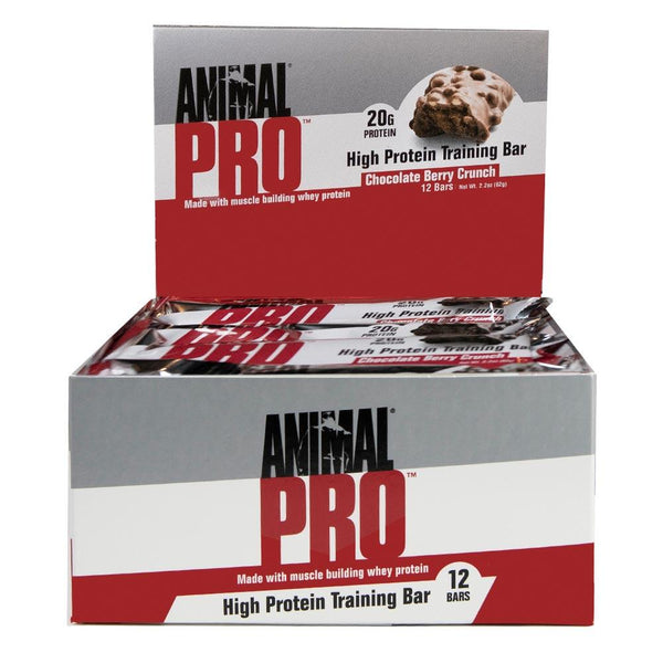 ANIMAL Pro Bar 12/Box Bars Universal Chocolate Berry Crunch  (4170278567959)