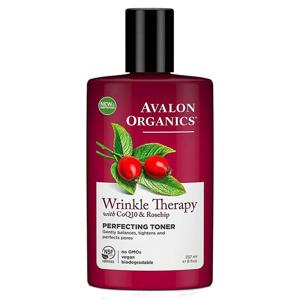 Avalon Organics Wrinkle Therapy With CoQ10 Perfecting Toner 8 Ounces (3400181907479)