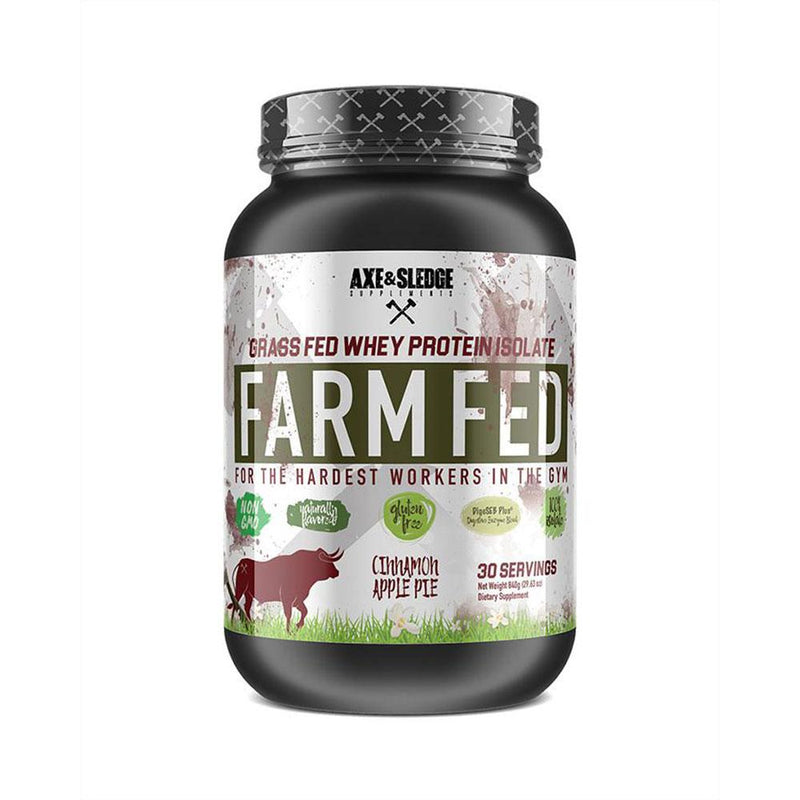 Axe & Sledge Farm Fed 30 SV Protein Powders AXE & SLEDGE CINNAMON APPLE PIE  (3825345789975)