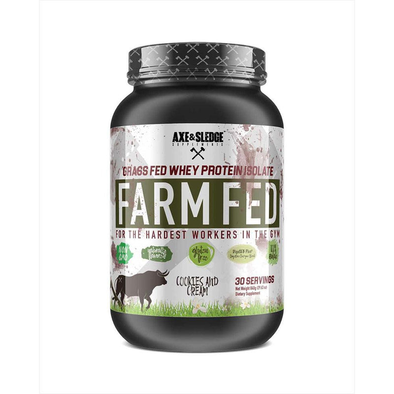 Axe & Sledge Farm Fed 30 SV Protein Powders AXE & SLEDGE COOKIES AND CREAM  (3825345789975)