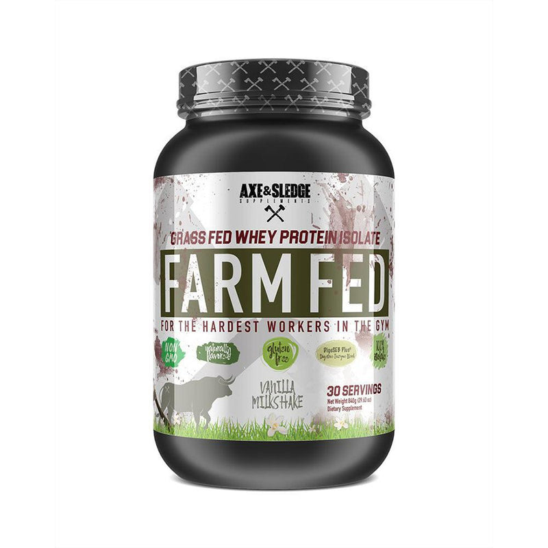 Axe & Sledge Farm Fed 30 SV Protein Powders AXE & SLEDGE VANILLA  (3825345789975)