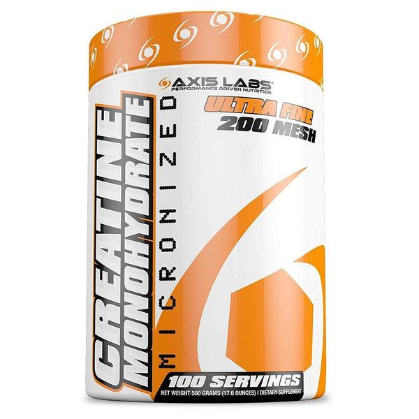 Axis Labs Creatine Monohydrate 100 Servings Creatine Axis Labs  (1572113088535)