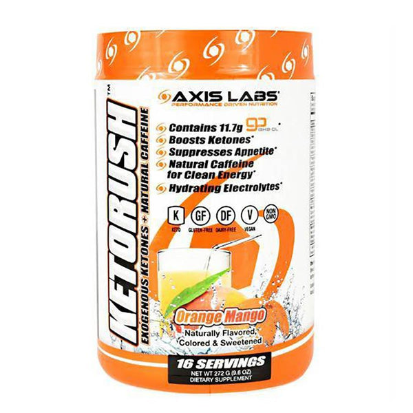 Axis Labs Ketorush 16 Servings Sports Performance Recovery Axis Labs Orange Mango  (1571239100439)