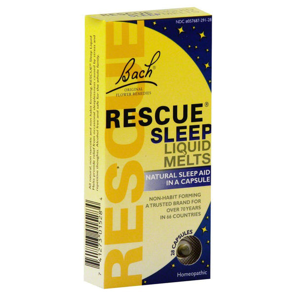 Bach Rescue Sleep Liquid Melts 28 Caps sleep Aids Bach  (10030580355)