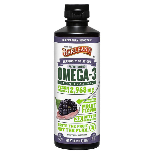 Barlean's Omega Swirl Blackberry 16 Oz Essential Fatty Acids & - Oils Barlean's  (1381428035607)
