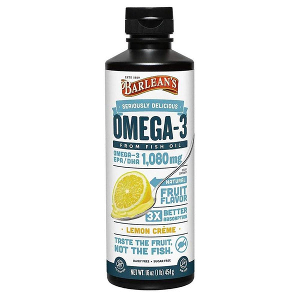 Barlean's Omega Swirl Fish Oil Lemon Creme 16oz Essential Fatty Acids & - Oils Barlean's  (1381427740695)