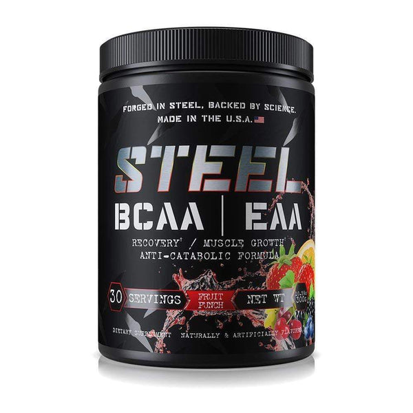Steel BCAA/EAA 30 Servings Amino Acids STEEL Fruit Punch  (3936954679319)
