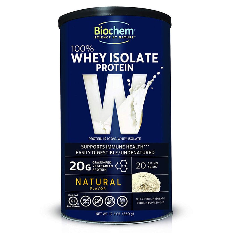 Biochem 100% Whey Natural 12.3oz Protein Powders Biochem  (572674736161)