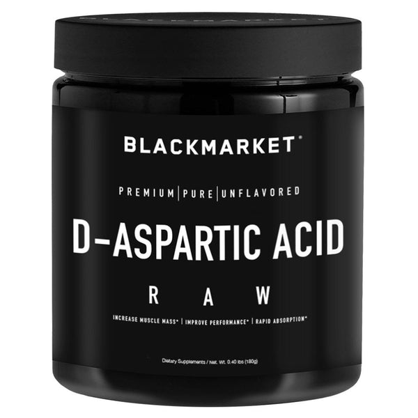 Black Market Labs D-Aspartic Acid 180g Sports Performance Recovery Black Market Labs  (4337265246231)