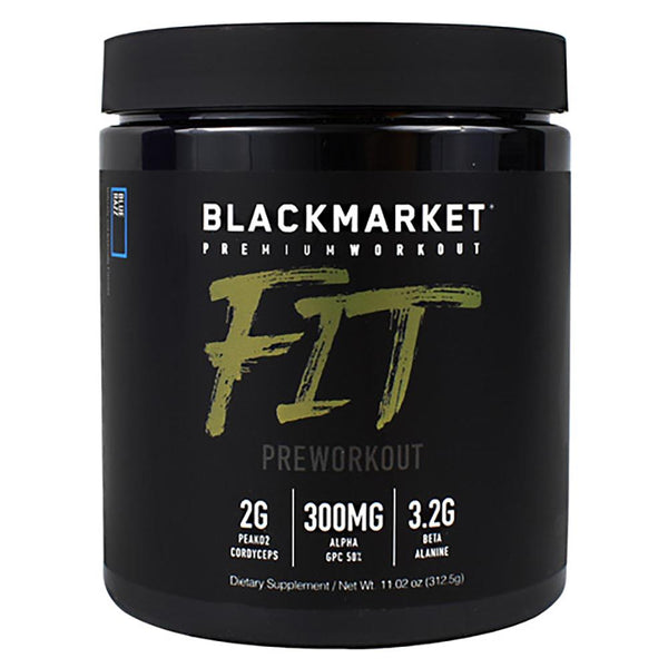 Black Market Labs Fit 25 SV Pre-Workouts Black Market Labs Blue Razz  (4337259675671)