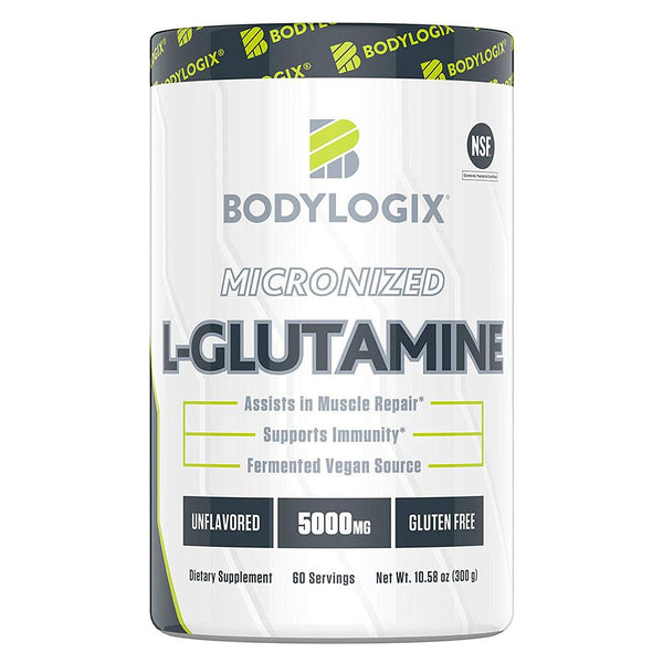 BODYLOGIX Micronized L-Glutamine 60 Servings Amino Acids Bodylogix  (1586384928791)