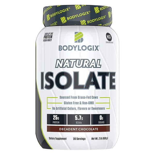 BODYLOGIX Natural Isolate Protein 2lb Protein Powders Bodylogix Decadent Chocolate  (1586384175127)