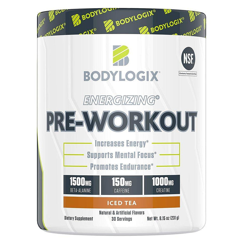 BODYLOGIX Energizing Pre-Workout 30 Servings Sports Performance Recovery Bodylogix Iced Tea  (1586391908375)
