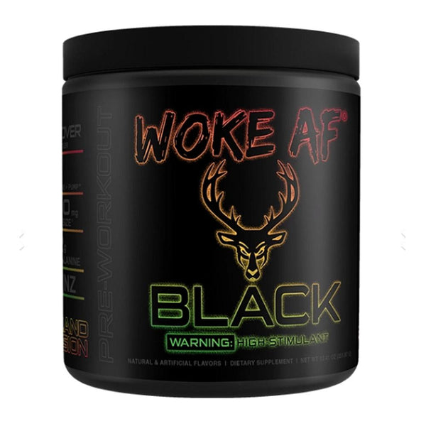 Bucked Up Woke AF Black 30 Servings Sports Performance Recovery Bucked Up Island Fusion  (4319399706647)