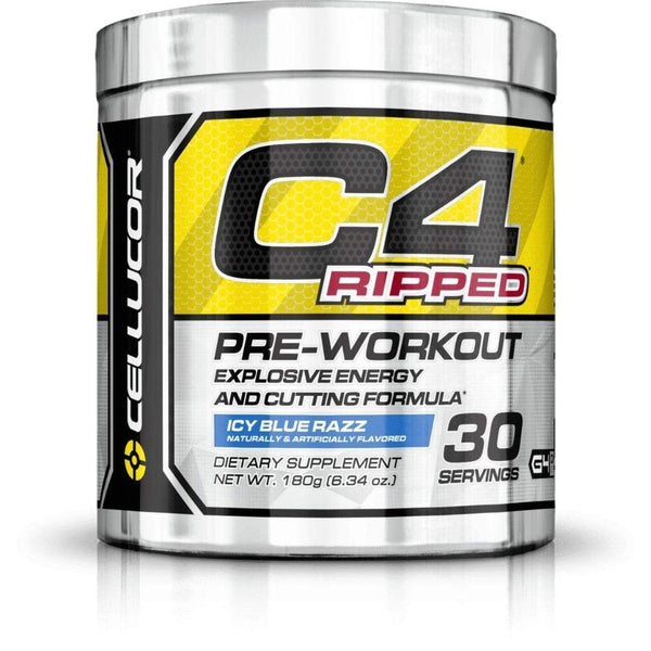 Cellucor C4 Ripped 30 Servings Sports Performance Recovery Cellucor Icy Blue Razz