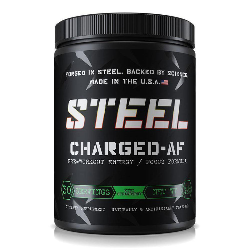 Steel Charged AF 30 Servings Sports Performance Recovery STEEL Kiwi Strawberry  (3936951861271)