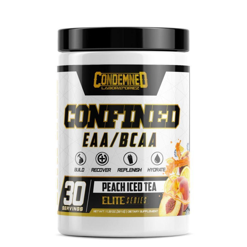 Condemned Labratoriez Confined EAA/BCAA 30 Servings Amino Acids Condemned Labratoriez Peach Iced Tea  (4476928458775)