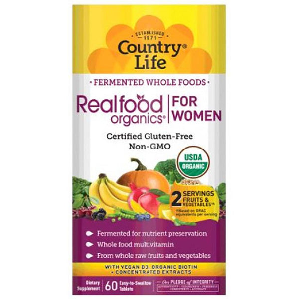 Country Life Realfood Organics Women's Daily Nutrition 60T Multi Vitamins Country Life  (1381431115799)