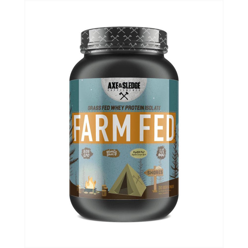 Axe & Sledge Farm Fed 30 SV Protein Powders AXE & SLEDGE SMORES  (3825345789975)