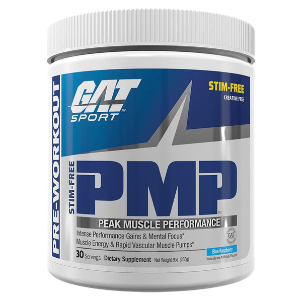 GAT PMP Stim Free 30 Servings Pre-Workout GAT Blue Raspberry  (10974255747)
