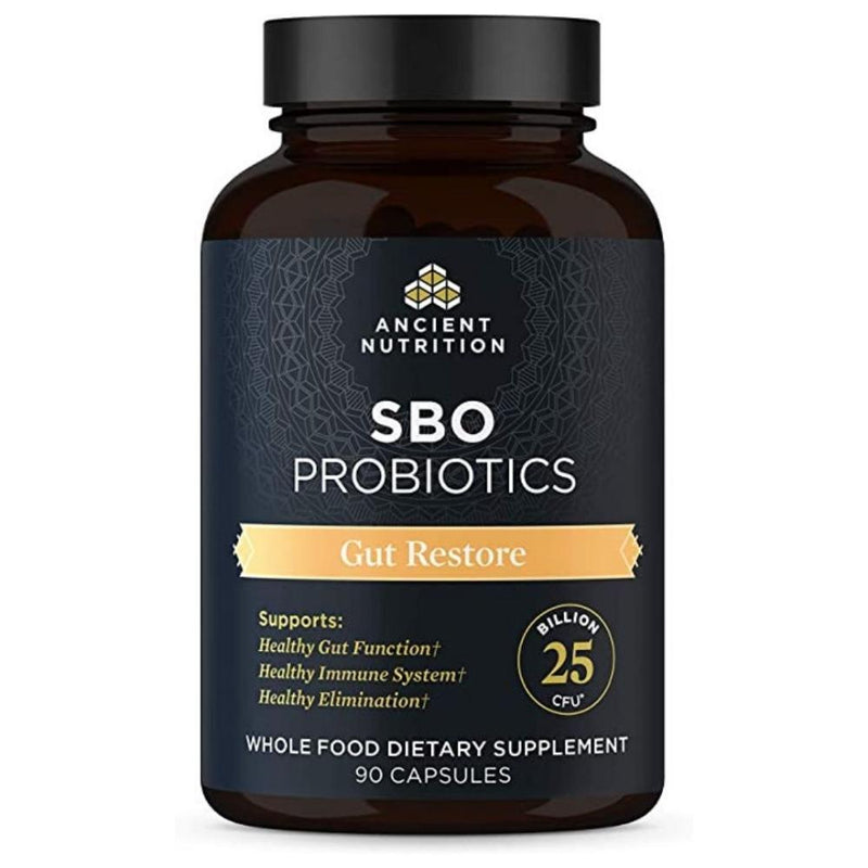 Ancient Nutrition SBO Probiotics Gut Restore 90 Capsules Digestive Health Ancient Nutrition  (4467237486615)