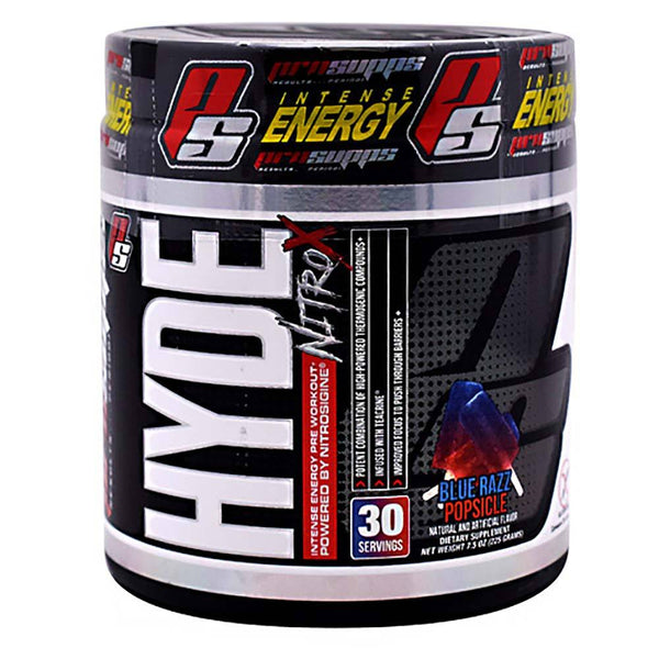 Hyde Nitro X 30 Servings Pre-Workout Pro Supps Blue Razz Popsicle  (516002742305)