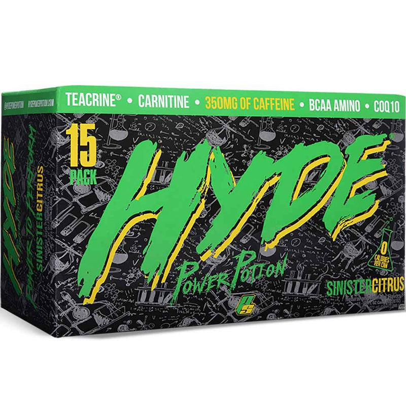 Pro Supps Hyde Power Potion 15/Cans Drinks Pro Supps SINISTER CITRUS  (1549283688471)