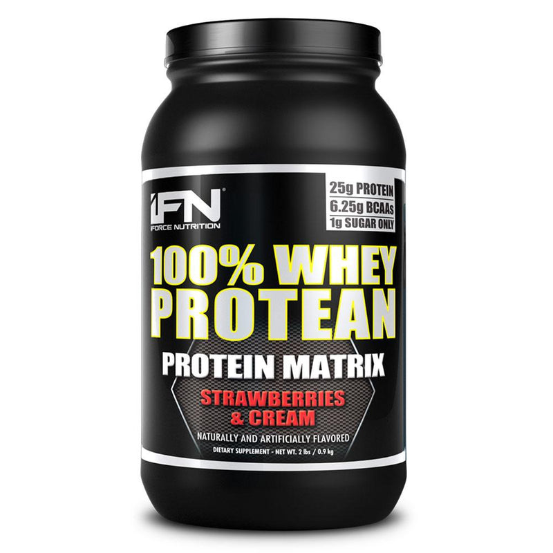 iForce Nutrition 100% WHEY PROTEAN™ Protein IFORCE 2lbs Strawberries & Cream  (9797637827)