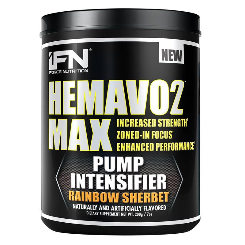 iForce Nutrition HEMAVO2 MAX™ Pre-Workout IFORCE Rainbow Sherbet 25 svg  (9797639747)
