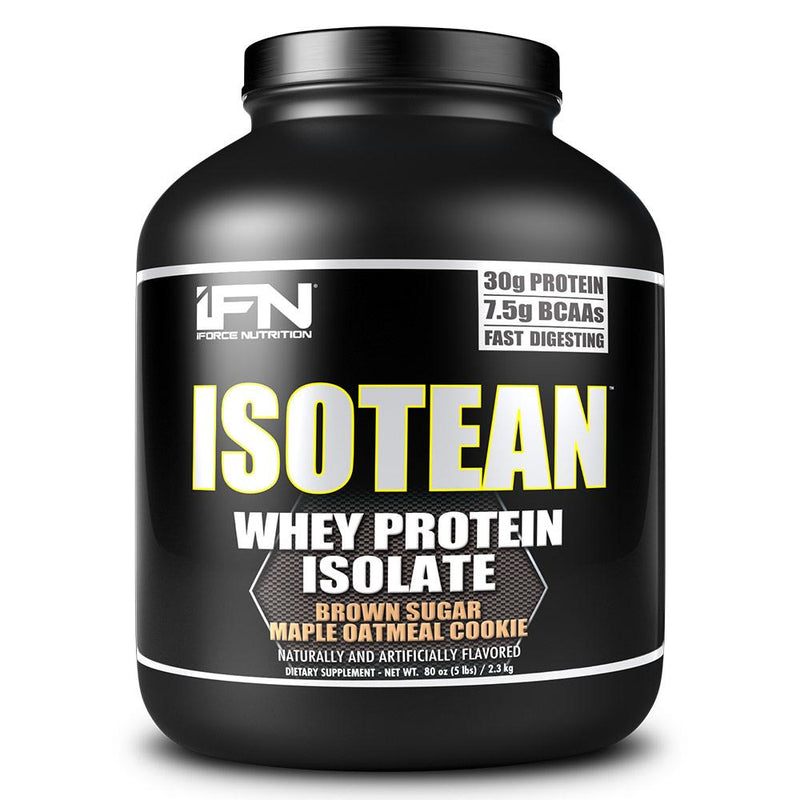 iForce Isotean 5 Lbs Protein Powders IFORCE Brown Sugar Maple Oatmeal Cook  (1489692950551)