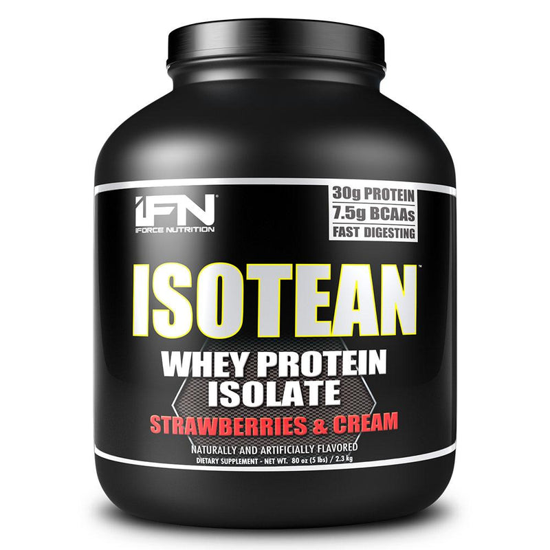 iForce Isotean 5 Lbs Protein Powders IFORCE Strawberries & Cream  (1489692950551)