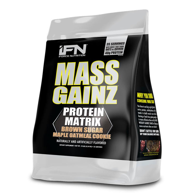 iForce Nutrition MASS GAINZ­™ Protein IFORCE 10lbs Brown Sugar Maple Oatmeal Cookie  (9797631043)