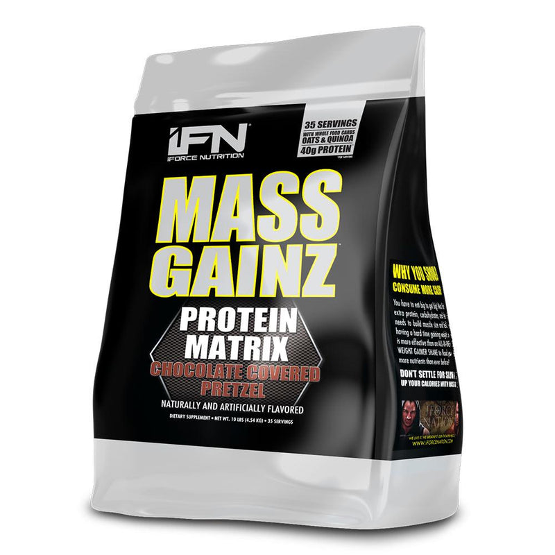 iForce Nutrition MASS GAINZ­™ Protein IFORCE 10lbs Chocolate Covered Pretzel  (9797631043)