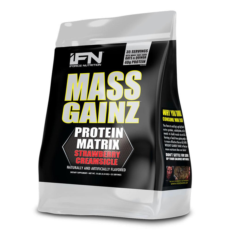 iForce Nutrition MASS GAINZ­™ Protein IFORCE 10lbs Strawberry Creamsicle  (9797631043)