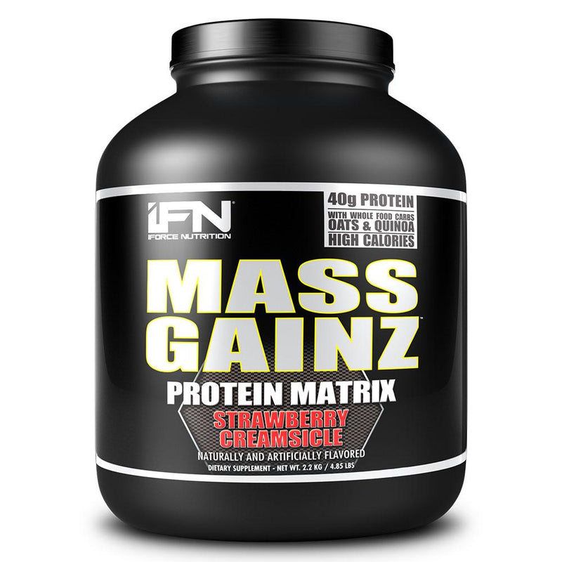 iForce Nutrition MASS GAINZ­™ Protein IFORCE 4.85lbs Strawberry Creamsicle  (9797631043)