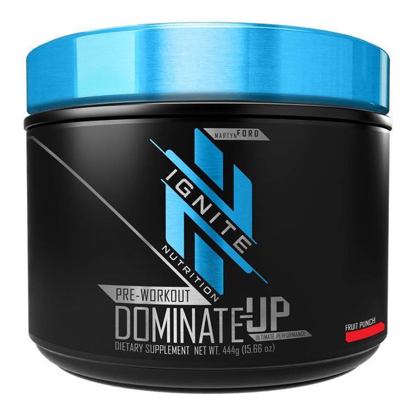 IGNITE DOMINATE-UP 30 Servings Pre-Workouts Ignite FRUIT PUNCH  (4377534595095)