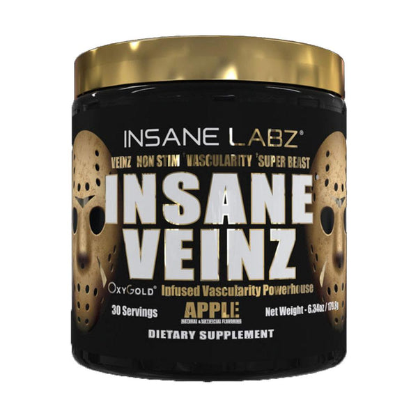 Insane Labz Insane Veinz Gold 30/S Nitric Oxide Insane Labz Apple  (4338674106391)