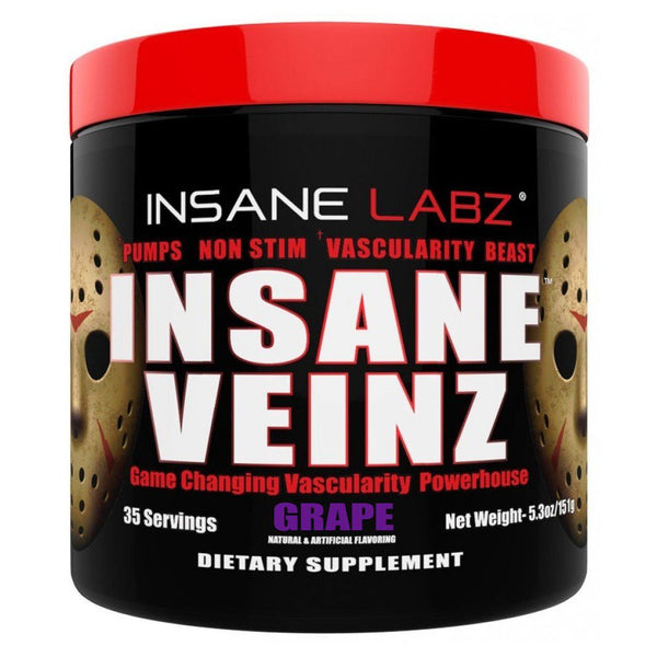 Insane Labz Insane Veinz 35 Servings Sports Performance Recovery Insane Labz Grape  (1569142505495)