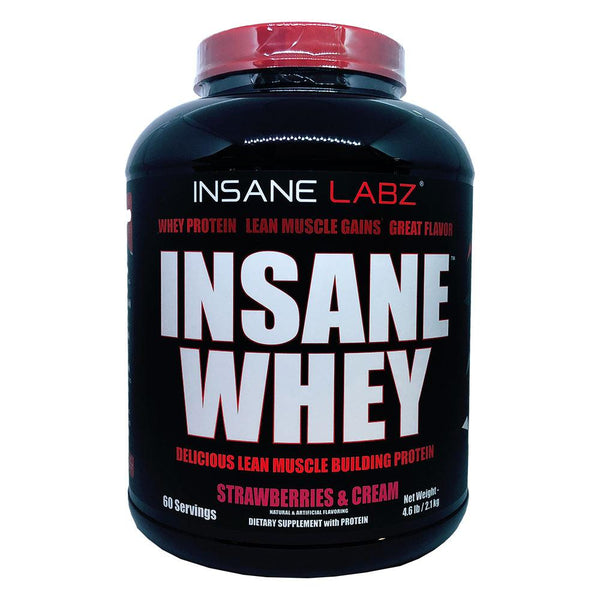 Insane Labz Insane Whey 5lb Protein Powders Insane Labz Strawberry  (1569141325847)
