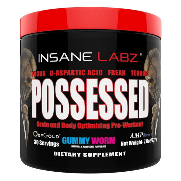 INSANE LABZ Possessed 30 Servings Sports Performance Recovery Insane Labz Gummy Worm  (1569136574487)