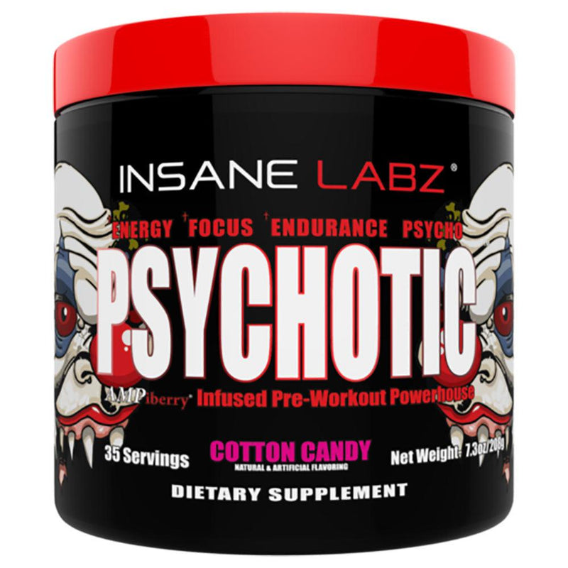 INSANE LABZ Psychotic 35 Servings Sports Performance Recovery Insane Labz Cotton Candy  (1569133363223)